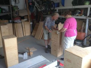 Step 3: Jim and Rosemary building plinths