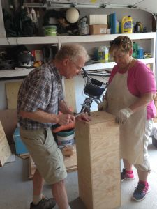 Step 4: Jim and Rosemary building plinths - part 2