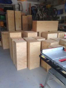 40 plinths built !!!!