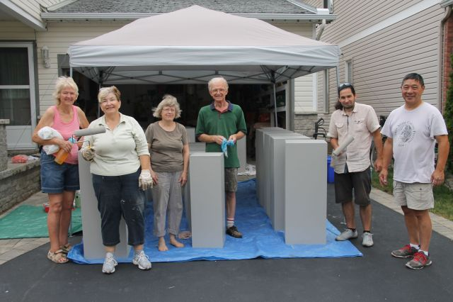 National Capital Network of Sculptors Plinth Building Team at the last day with the 50 new plinths